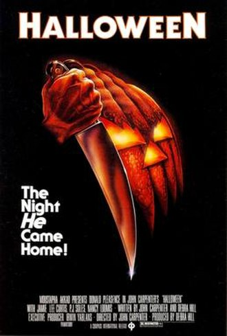 Slasher film - Theatrical poster for Halloween (1978)