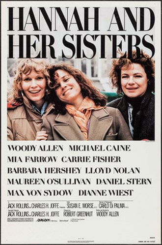 Hannah and Her Sisters - Theatrical release poster