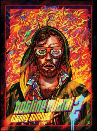 Hotline Miami 2: Wrong Number - Cover art of Hotline Miami 2: Wrong Number