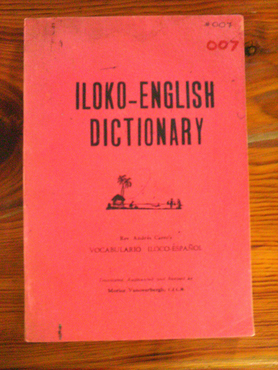 Ilocano Dictionary Published by the CICM in 1930