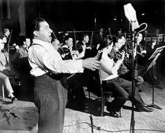 Jan Peerce - Peerce at an RCA Victor recording session, c. 1950