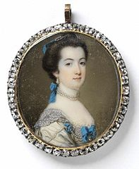 Portrait of Hon. Miss Eliza Booth, dated 1766. Victoria & Albert Museum