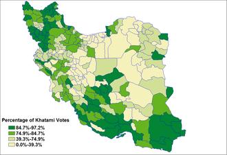 Iranian presidential election, 2001 - Image: Khatami vote