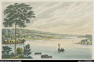 James Squire - The property of the late Mr James Squires, Kissing Point, New South Wales. Creator Lycett, Joseph, ca. 1775–1828.