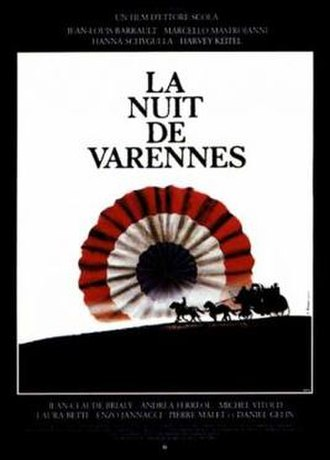That Night in Varennes - French poster for film