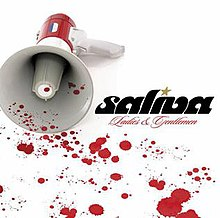 The cover consists of a bullhorn set against a white background and blood stains are spread out across the cover.