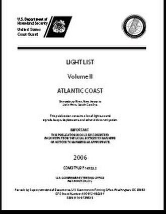 Nautical publications - Light List cover