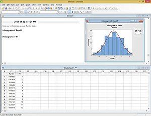 Minitab 17 running on Windows 8