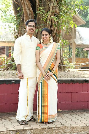Mridula Warrier - Mridula with her husband Arun B. Warrier