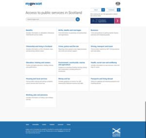 Mygov.scot - Image: Mygov.scot screenshot