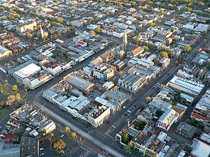 North Melbourne, Victoria - Aerial view of North Melbourne