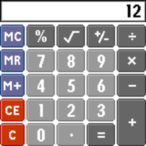 Palm OS - Calculator as seen on Palm OS 4.1
