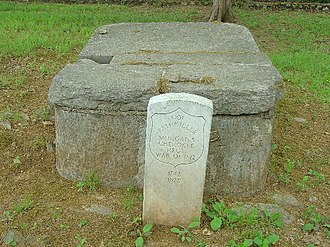 Pathkiller - A possible burial site of Pathkiller exists in a cemetery found in the old Cherokee Nation capital of New Echota