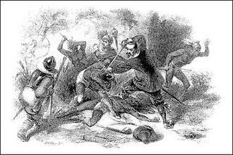 Slavery among Native Americans in the United States - The massacre of the Pequot resulted in the enslavement of some of the survivors by English colonists.