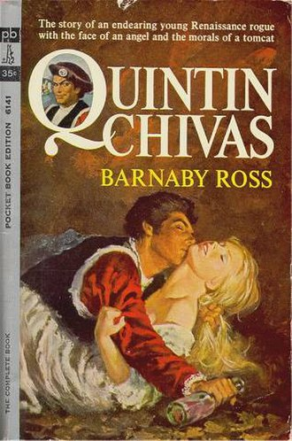 "Ellery Queen - Dannay and Lee revived the Barnaby Ross pseudonym for a series of historical romances and ""bodice rippers"" written by Don Tracy."