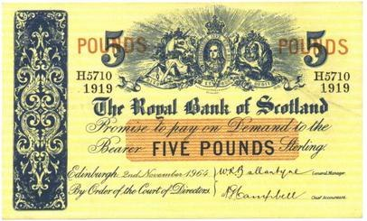RBS Bank Note 1919