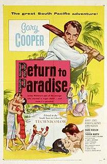 <i>Return to Paradise</i> (1953 film) 1953 film by Mark Robson