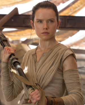 Rey (Star Wars) - Daisy Ridley as Rey in The Force Awakens