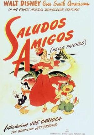 Saludos Amigos - Original theatrical release poster