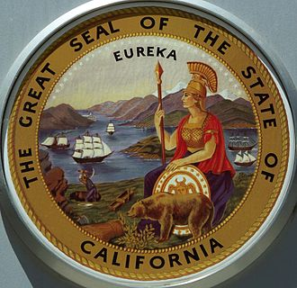 Great Seal of California - Modern day full-color illustration of the Seal of California