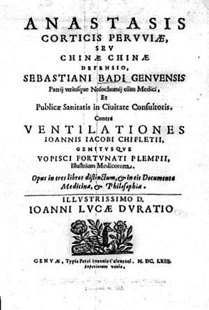Jesuit's bark - Sebastiano Bado's book on the Chinchona
