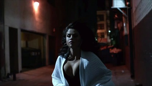 Same Old Love - Gomez making her way by foot through the Broadway Theater District of Los Angeles in a scene inspired by Tony Bennett.
