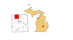 Location of Rush Township, Michigan