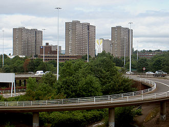 Sighthill, Glasgow - The Pinkston area of Sighthill as seen from Townhead