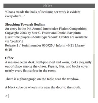 Slouching Towards Bedlam - Image: Slouching Towards Bedland computer game screenshot