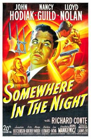 Somewhere in the Night (film) - Theatrical release poster