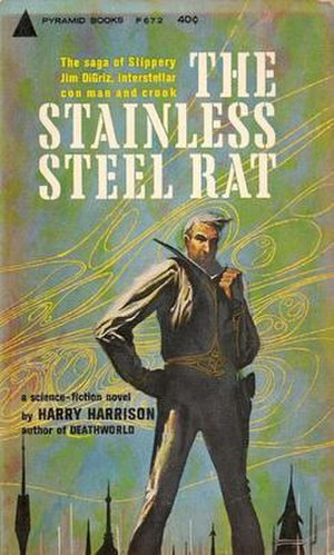 The Stainless Steel Rat - First printing cover to The Stainless Steel Rat by Harry Harrison.