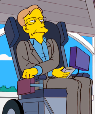 """Stephen Hawking in popular culture - Hawking as seen as a cartoon character on The Simpsons episode """"They Saved Lisa's Brain"""""""