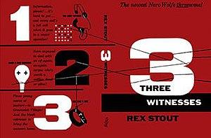 Three Witnesses (book) - Bill English dust jacket design