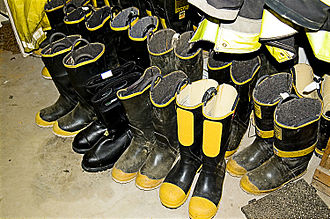 Bunker gear - Several pairs of surplus firefighter boots.