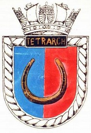HMS Tetrarch (N77) - Image: TETRARCH badge 1