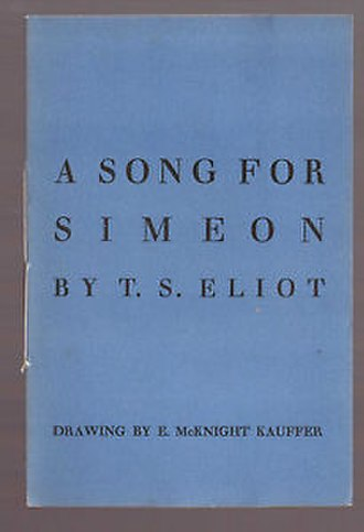 A Song for Simeon - The cover of the poem's first publishing, Faber and Gwyer's 1928 pamphlet