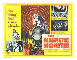 The Magnetic Monster - Theatrical release half-sheet display poster