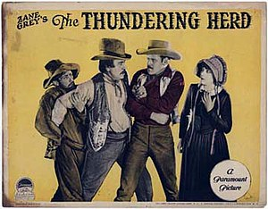 The Thundering Herd (1925 film) - Lobby card