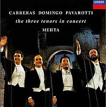 Three Tenors (Domingo, Carreras, conductor Mehta, Pavarotti) - 1990.jpg