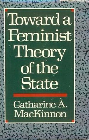Toward a Feminist Theory of the State - Cover of the first edition