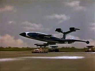 "Thunderbirds machines - Fireflash as seen in ""Trapped in the Sky"""