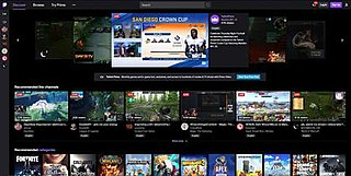 Twitch.tv live streaming video platform