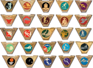 Varsity Scouting (Boy Scouts of America) - Image: Varsity Scout Activity Pins
