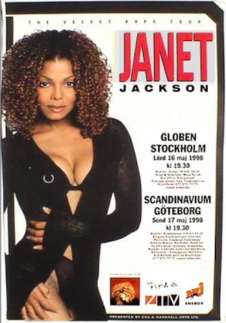 The Velvet Rope Tour - The tour's promotional advertisement drew controversy and was banned from numerous publications