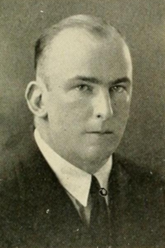 William L. Younger - Younger pictured in Quips and Cranks 1924, Davidson yearbook