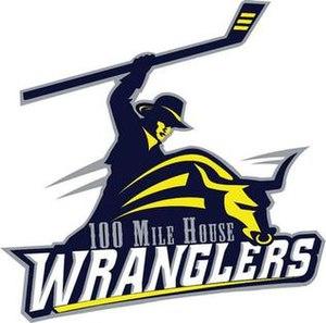 100 Mile House Wranglers - Image: 100Mile House Wranglers Logo