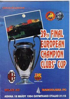 1994 UEFA Champions League Final The final of the 1993–94 edition of the UEFA Champions League