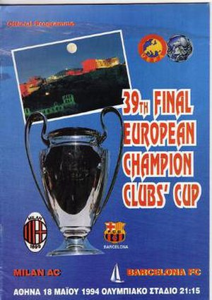 1994 UEFA Champions League Final - Match programme cover