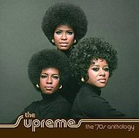 (Clockwise from top) The cover of The Supremes' 70s Anthology shows Jean Terrell, Cindy Birdsong, and Mary Wilson in 1970. A photograph similar to this one was used on the cover for the Supremes' 1970 LP New Ways But Love Stays.