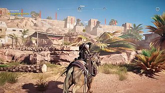 Assassin's Creed Origins - Players may travel around the game's open world of Egypt on horseback.